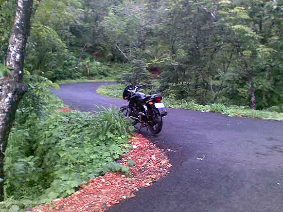 A Beautiful Road on the top of  Arimbra Mala